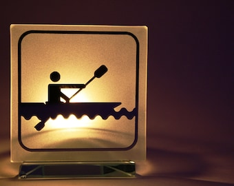 kayak candle holder bougeoir