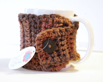 Crochet Coffee Cup Cozy - Back To School  -  Hot Tea Cozy -  Teacher Gift