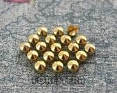 100Pcs 5mm Gold CONE Studs Metal Studs (JC05)