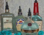 Recycled Bottle Soap Dispenser-Oil Dispenser-Vinegar-Liquid Soap-Kitchen Decor-Mod-Shabby Chic-Beach-Farm Chic