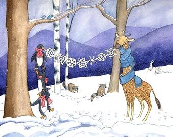 2007 Holiday Card giclee print