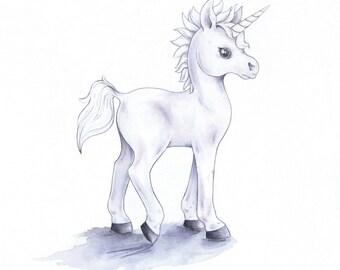 Baby Unicorn giclée print