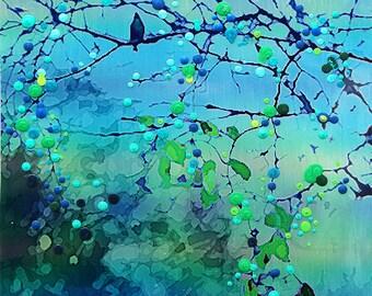 Bluebird - Morning Song - The promise of new beginnings print