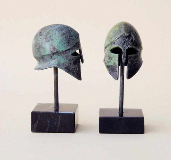 Greek Bronze Helmet, Ancient War Helmet, Bronze Metal Sculpture Small, Collectible Timeless Art, Museum Quality Art Sculpture, Historic Art
