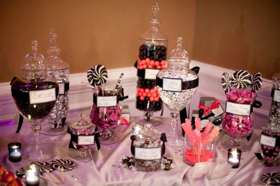 Wedding Candy Labels - Sweet table tags - escort cards - Candy Bar Table - Weddings