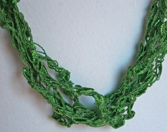 Fern  - Crocheted Necklace