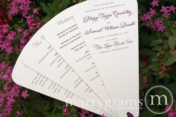 Wedding Program Fans 4 Blade Petal Fan Programs By Marrygrams