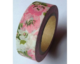 Japanese Washi Masking Tape - Blossoming 02 - 11 yards
