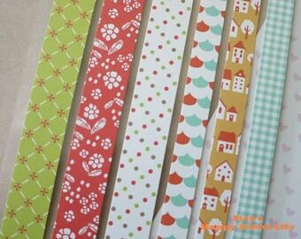 Paper Deco Sticker Set - Masking Seal Set - Line Shape - Ver 1 - 2 Sheets
