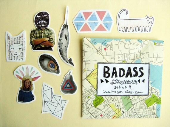 Badass Sticker Set