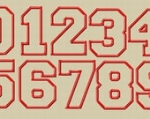 Jumbo College Varsity Applique Numbers Machine Embroidery Design - 5 Sizes