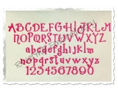 """Small Giggles Machine Embroidery Font Alphabet - 3/4"""" Size ONLY"""
