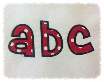 Cheri Applique Machine Embroidery Font Monogram Alphabet - 5 Sizes