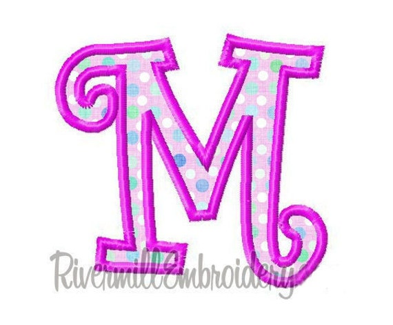 Curlz Applique Machine Embroidery Font - 4x4 Hoop Size