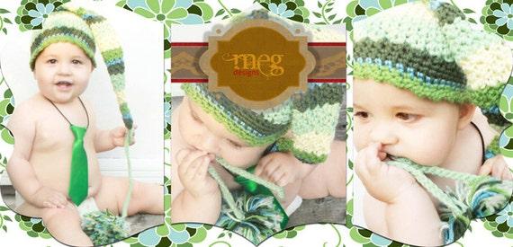 Black Friday - Textured Elf Hat - Sized Preemie up to Adult - PDF Crochet Pattern