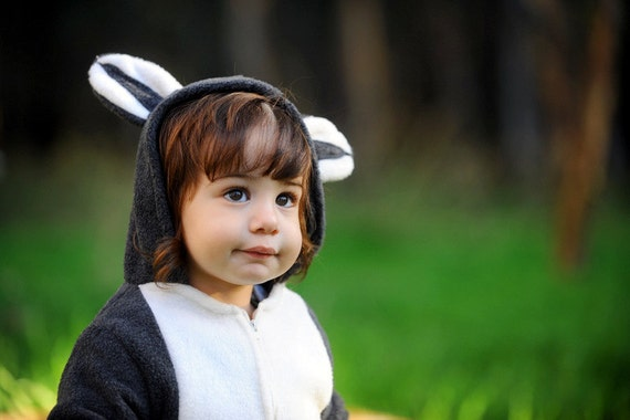 Halloween Handmade  Raccoon  Baby Costume, Toddler Costume, Kids Costume