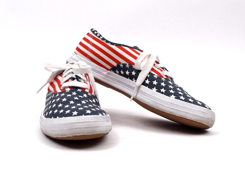 1990s American Flag Keds Sneaker Tennis Shoe By