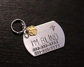 Custom Pet ID Tag - Dog Tag Military Style in Silver, Brass, or Copper