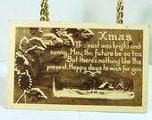 Antique Greeting Postcard 1908 - Xmas- Happy days - Rare