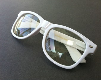 Rave light show glasses - white