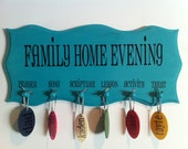 Family Home Evening Wood Assignment Board
