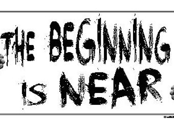 The Beginning Is Near T Shirt Occupy 99% Inspired Positive Revolution