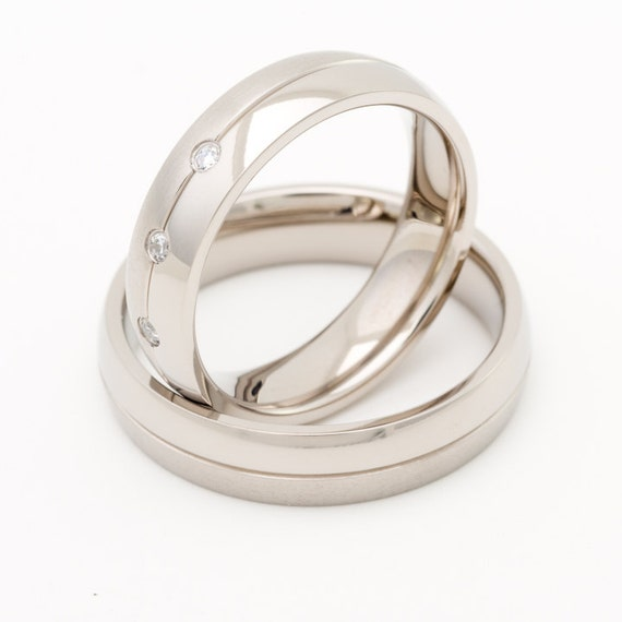 on sale titanium wedding ring sets his and by