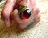 Blood Red Glass Game of Thrones Inspired Medieval Fantasy Ring