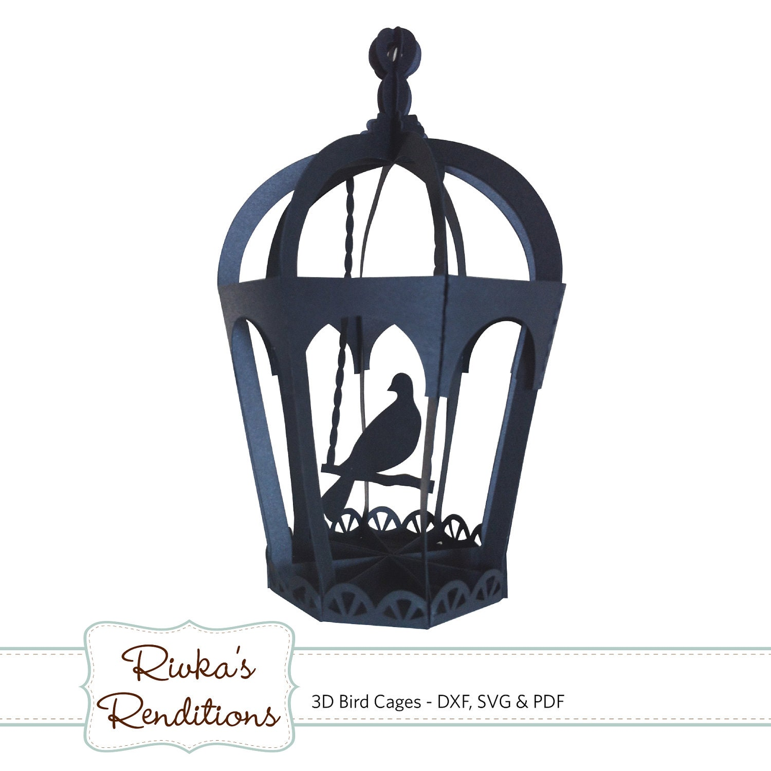 3d Bird Cages Digital Cut File And Template Dxf Svg And Pdf