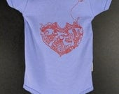 SF-Heart , American Apparel Onesies (Baby Blue, Light Pink, Natural-Organic)