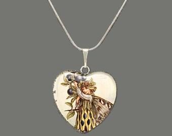Flower Fairy (Sloe Fairy) Glass Pendant