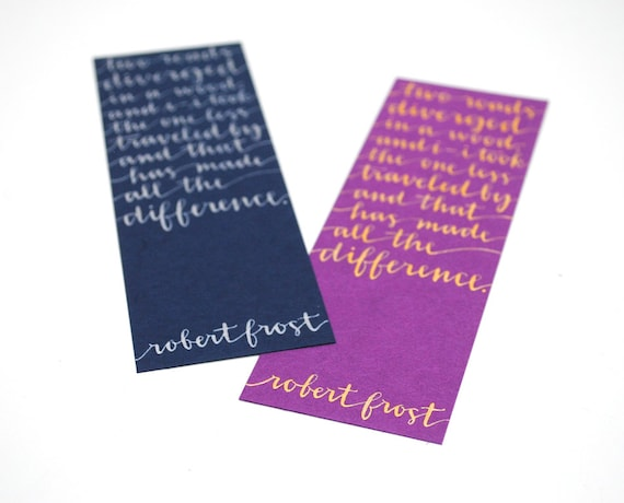 CUSTOM BULK ORDER for Dominique , Custom Stationery , Bookmarks , Personalized Notecards , Recycled Brown Kraft , Purple and Blue