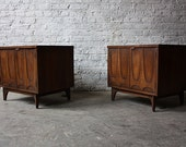 mid century MODERN end tables NIGHTSTANDS by Brohill BRASILIA
