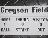 Baseball, Birthday Party, Scoreboard, Decor, Backdrop Printable