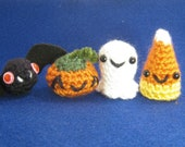 Crochet Halloween Ghost Bat Candy Corn Jack O Lantern Amigurumi