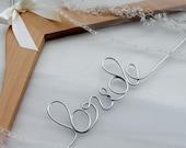 SALE Wedding Dress Hanger, Wedding Gift, Name Hanger, Wedding Hanger, Bride, Bridesmaid Gift, NATURAL WOOD