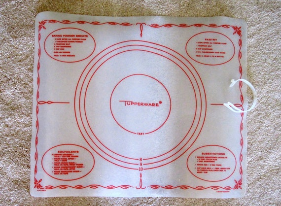 Tupperware Pastry And Pie Dough Mat By Happykristenvintage