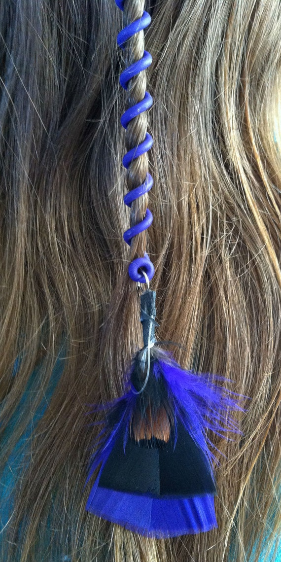 NEW Twistyz Hair twist wraps spirals handmade any color 2/5.99 with feather