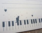 letter-paper / piano