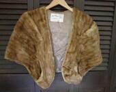 Classic  Mink  Vintage Alaska Furriers Front Cap/Stole Jacket with pockets