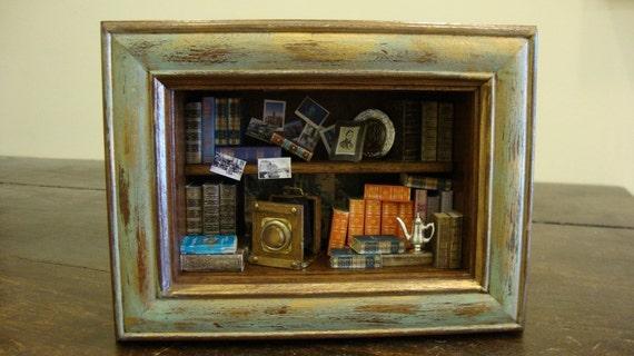 "Miniature roombox  vintage "" old memories """