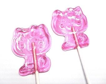 10 KITTY LOLLIPOPS - Hard Candy