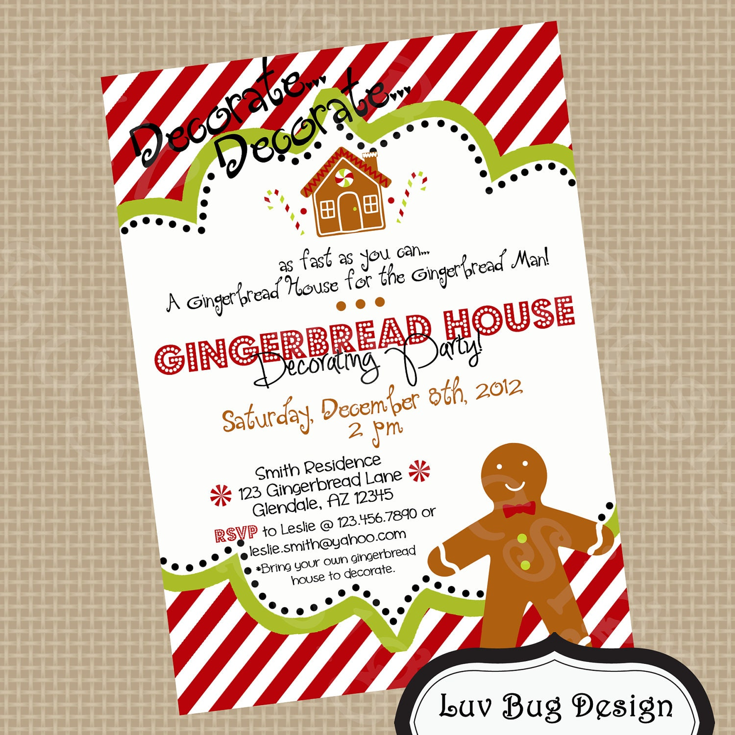 Gingerbread House Party Invitations karate instructor sample – Gingerbread Party Invitations