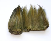 1 metre Full Hackle Feather Fringe - Seagrass