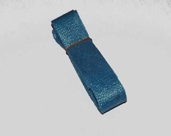 2.5cm wide Turquoise Sinamay Bias Bind - 1.2 metres long, ideal for edging or looping