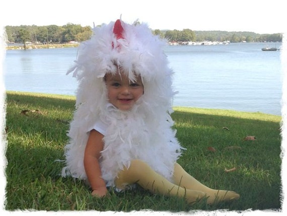 Chicken Costume 24 months 2T Fluffy Feathers