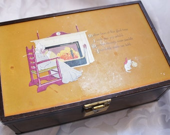 Very Vintage Jewelry Trinket Box