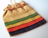 Woven Straw Italian Handbag Purse