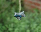 Spirit Bear Totem Animal Pendant  - Clay Bear Miniature Pendant for Necklace or Crafting - Petite Hanging Patronus
