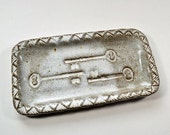Stoneware Rectangular Key Plate Buttermilk Glaze